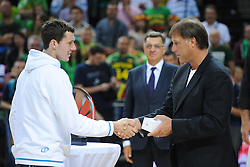 Goran Dragic of Slovenia after the friendly match between National Teams of Slovenia and Lithuania before World Championship Spain 2014 on August 18, 2014 in Kaunas, Lithuania. Photo by Robertas Dackus / Sportida.com