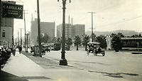 1924 Looking west on Hollywood Blvd. from Vista Del Mar St.