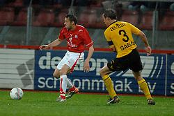 09-05-2007 VOETBAL: PLAY OFF: UTRECHT - RODA: UTRECHT<br /> In de play-off-confrontatie tussen FC Utrecht en Roda JC om een plek in de UEFA Cup is nog niets beslist. De eerste wedstrijd tussen beide in Utrecht eindigde in 0-0 / Lucian Sanmartean<br /> ©2007-WWW.FOTOHOOGENDOORN.NL