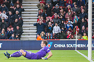 Bernd Leno (GK) (Arsenal) on the ground during the Premier League match between Bournemouth and Arsenal at the Vitality Stadium, Bournemouth, England on 25 November 2018.