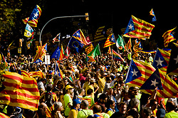 September 11, 2017 - Barcelona, Catalonia, Spain - In Barcelona, coinciding with Catalan  national day or Diada, hundreds of thousands fill the streets demanding the independence of Catalonia. Catalan government aims to celebrate a referendum on independence next first october. (Credit Image: © Jordi Boixareu via ZUMA Wire)