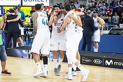June 19, 2018 - Vitoria, Spain - Real Madrid Jeffery Taylor, Sergio Llull, Felipe Reyes and Rudy Fernandez during Liga Endesa Finals match (4th game) between Kirolbet Baskonia and Real Madrid at Fernando Buesa Arena in Vitoria, Spain. June 19, 2018. (Credit Image: © Coolmedia/NurPhoto via ZUMA Press)
