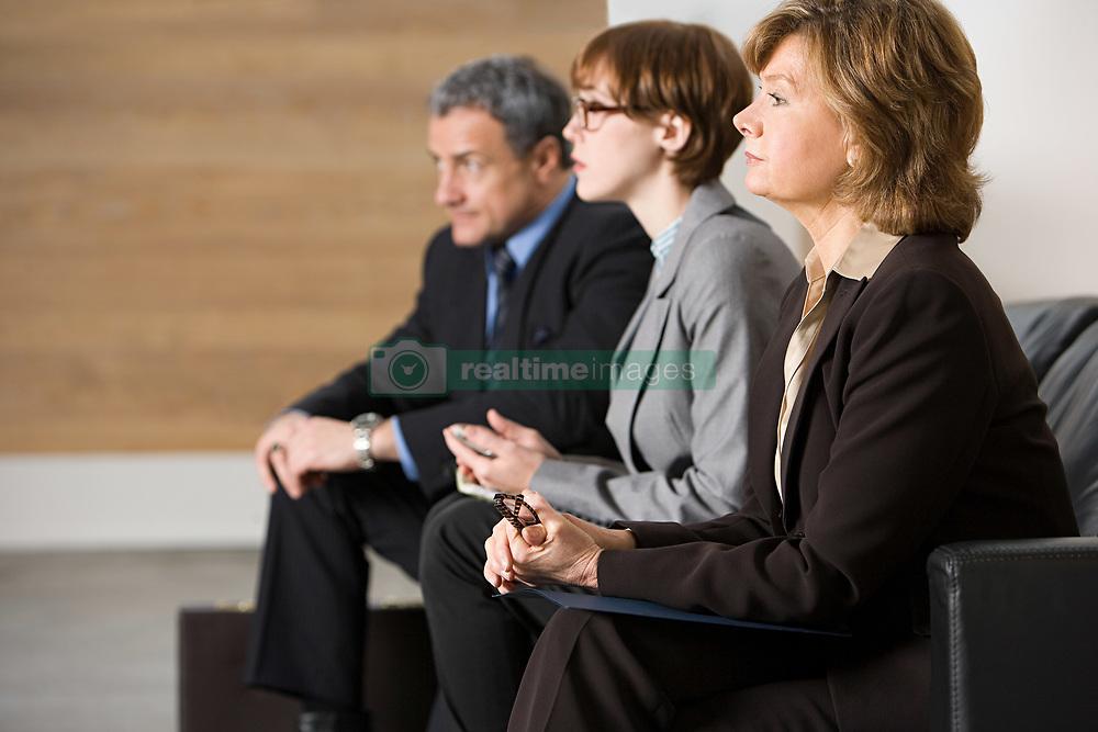 Dec. 04, 2012 - Business people waiting for job interview (Credit Image: © Image Source/ZUMAPRESS.com)