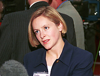 Emma Kennedy, BBC Scotland presenter. Photograph taken at 1996 Labour Party Conference. Ref: 199610053.<br />
