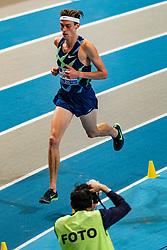 Mike Foppen in action on the 3000 meter during AA Drink Dutch Athletics Championship Indoor on 21 February 2021 in Apeldoorn.