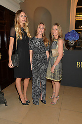 Left to right, SABRINA PERCY, TOR DASHWOOD and CAROLINE ARMSTRONG-JONES at an evenig of Jewellery & Photography to launch the Buccellati 'Opera Collection' held at Spencer House, London on 21st October 2015.