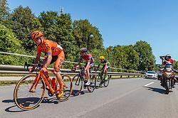 05.07.2017, Altheim, AUT, Ö-Tour, Österreich Radrundfahrt 2017, 3. Etappe von Wieselburg nach Altheim (226,2km), im Bild Jan Tratnik (SLO, CCC Sprandi Polkowice), Peter Kusztor (HUN, Amplatz BMC), Maximilian Hammerle (AUT, Team Vorarlberg) // Jan Tratnik (SLO, CCC Sprandi Polkowice), Peter Kusztor (HUN, Amplatz BMC), Maximilian Hammerle (AUT, Team Vorarlberg) during the 3rd stage from Wieselburg to Altheim (199,6km) of 2017 Tour of Austria. Altheim, Austria on 2017/07/05. EXPA Pictures © 2017, PhotoCredit: EXPA/ JFK
