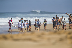 December 11, 2017 - Haleiwa, Hawaii, U.S. - Julian Wilson of Australia suffered an interference call against him and will surf in Round Two of the 2017 Billabong Pipe Masters after placing second in Heat 3 of Round One at Pipe, Oahu, Hawaii, USA...Billabong Pipe Masters 2017. (WSL via ZUMA Wire/ZUMAPRESS.com)