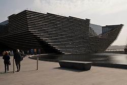 Pictured: <br /> The new V&A design museum was open for business today on a cold bright spring day. Visitors of all ages enjoyed the setting but perhaps not the prices in the gift shop with very little for the young visitor at pocket-money prices<br /> <br /> <br /> Ger Harley | EEm 8 April 2019