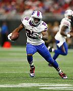 Buffalo Bills running back LeSean McCoy (25) runs in a week 4 NFL football game against the Atlanta Falcons on Sunday, Oct. 1, 2017 in Atlanta, GA. (Mike Zarrilli/AP Images for Panini, via AP)