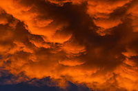 Cloud formations in the sky above Littleton, Colorado USA.
