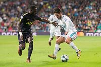 "Real Madrid Francisco Roman ""Isco"" and Tottenham Moussa Sissoko during UEFA Champions League match between Real Madrid and Tottenham at Santiago Bernabeu in Madrid, Spain October 17, 2017. (ALTERPHOTOS/Borja B.Hojas)"