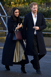 Prince Harry and Meghan Markle during a Royal visit to Nottingham. Photo credit should read: M6027D/EMPICS Entertainment