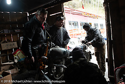 Roadside bike repair shop on day-5  of our Himalayan Heroes adventure riding from Kalopani through the Mustang District to our highest elevation of the trip at over 12,000' when we reached Muktinath, Nepal. Saturday, November 10, 2018. Photography ©2018 Michael Lichter.