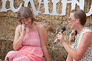 Laura Gibson is interviewed backstage at Pickathon 2012 at Pendarvis Farm in Happy Valley, OR. Photo by Jason Quigley