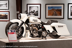 John Shope's Dirtybird Customs custom diesel  bagger in the More Mettle - Motorcycles and Art That Never Quit exhibition in the Buffalo Chip Events Center Gallery during the Sturgis Motorcycle Rally. SD, USA. Monday, August 9, 2021. Photography ©2021 Michael Lichter.