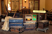 Chests in the Wells Fargo Express Office in Columbia, Columbia National Historic Site, Highway 49, California