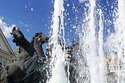 Fountain at Alexandrovsky gardens, Moscow, Russia