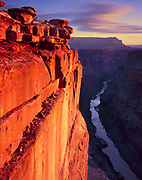 Sunrise, Cloud and the Colorado River from Toroweap, Grand Canyon National Park, Arizona
