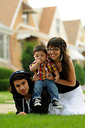 Wednesday, July 22, 2009- Gael Gaspar, 10 months, is photographed alone and with his parents at his grandparent's southwest side home after a photo of him was named the winning selection in an Hoy Newspaper reader-submitted kids photo contest. Gaspar is joined by his mother Cristina Perez, and father Manuel Gaspar.