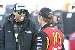 October 19, 2018 - Kansas City, Kansas, United States of America - Aric Almirola (10) hangs out on pit road prior to qualifying for the Hollywood Casino 400 at Kansas Speedway in Kansas City, Kansas. (Credit Image: © Justin R. Noe Asp Inc/ASP via ZUMA Wire)