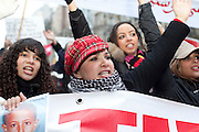 Paris, France. 22 Janvier 2011.Manisfestation de soutien a la Tunisie...Paris, France. January 22nd 2011..Supportive protest for Tunisia......