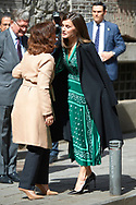 Queen Letizia of Spain attends the Inauguration of the accessibility works carried out in the Real Monasterio de la Encarnacion on April 10, 2019 in Madrid, Spain