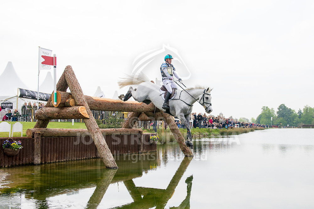 Andrew Hoy (AUS) & The Blue Frontier - Cross Country - Mitsubishi Motors Badminton Horse Trials - Badminton, Gloucestershire, United Kingdom - 06 May 2017