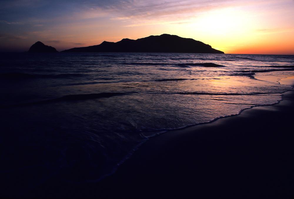 Beach sunset in Baja California.