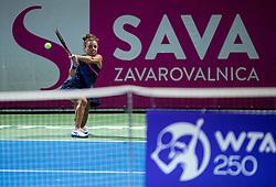 PORTOROZ, SLOVENIA - SEPTEMBER 19: Jasmine Paolini of Italy playing Singles final during the WTA 250 Zavarovalnica Sava Portoroz at SRC Marina, on September 19, 2021 in Portoroz / Portorose, Slovenia. Photo by Vid Ponikvar / Sportida