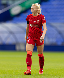 BIRKENHEAD, ENGLAND - Sunday, August 29, 2021: Liverpool's Ceri Holland during the FA Women's Championship game between Liverpool FC Women and London City Lionesses FC at Prenton Park. London City won 1-0. (Pic by Paul Currie/Propaganda)