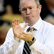 Marshall head coach Tom Herrion during a Conference USA NCAA basketball game between the Marshall Thundering Herd and the Central Florida Knights at the UCF Arena on January 5, 2011 in Orlando, Florida. Central Florida won the game 65-58 and extended their record to 14-0.  (AP Photo/Alex Menendez)
