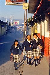 Girls Walking To School