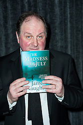 © Licensed to London News Pictures. 25/02/2014 London, UK. Author and Radio 4 presenter, James Naughtie, launches his new book at the Institute of Comtemporary Arts, in the Mall. The book, The Madness of July, is a Cold War thriller which begins in the Mall. The launch saw guests such as Chancellor George Osbornes and Menzies Campbell along with many other guests from TV and Radio. Photo credit : Simon Ford/LNP