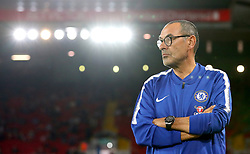 Chelsea manager Maurizio Sarri ahead of the Carabao Cup, Third Round match at Anfield, Liverpool.