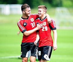 Bristol City's Mitch Brundle and Wes Burns  - Photo mandatory by-line: Dougie Allward/JMP - Tel: Mobile: 07966 386802 28/06/2013 - SPORT - FOOTBALL - Bristol -  Bristol City - Pre Season Training - Npower League One