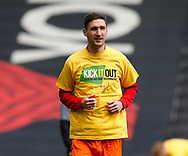 Chris Basham of Sheffield Utd warms up during the English League One match at  Stadium MK, Milton Keynes. Picture date: April 22nd 2017. Pic credit should read: Simon Bellis/Sportimage