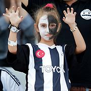 Besiktas's supporter during their Turkish Super League soccer derby match Besiktas between Fenerbahce at the Ataturk Olimpiyat stadium in Istanbul Turkey on Sunday, 27 September 2015. Photo by Kurtulus YILMAZ/TURKPIX