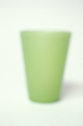 blurry view of green cup