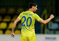 Sven Sostaric Karic of Domzale celebrates after third goal of Domzale during football match between NK Domzale and NK Koper in 34th Round of Prva liga Telekom Slovenije 2020/21, on May 16, 2021 in Sports park Domzale, Domzale, Slovenia. Photo by Vid Ponikvar / Sportida