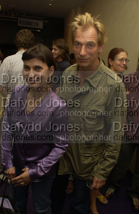 Evgenia Sands and Julian Sands. Gala Charity premiere of 'On A Clear Day' in aid of the NSPCC. The Screen on the Hill, Haverstock Hill, London. 31 August 2005. ONE TIME USE ONLY - DO NOT ARCHIVE  © Copyright Photograph by Dafydd Jones 66 Stockwell Park Rd. London SW9 0DA Tel 020 7733 0108 www.dafjones.com