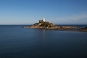 Lighthouse at Mumbles Head, Gower peninsula, near Swansea, South Wales, UK