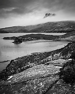 Stac Pollaidh bears the brunt of incoming westerlies in Assynt, Scotland.