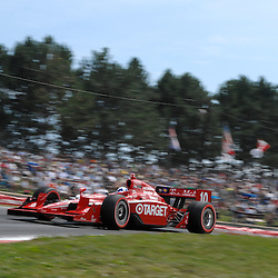 8 August, 2010; Target Chip Ganassi Racing's DARIO FRANCHITTI during the Izod IndyCar Series Honda Indy 200 at the Mid-Ohio Sports Car Course in Lexington, Ohio. Franchitti went on to win the race..Mandatory Credit: Will Schneekloth / Southcreek Global