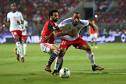 October 8, 2017 - Alexandria, Egypt - Egypt's Mohamed Salah vies for the ball against Congo's Tobias Badila during their World Cup 2018 Africa qualifying match between Egypt and Congo at the Borg el-Arab stadium in Alexandria on October 8, 2017. (Credit Image: © Ahmed Awaad/NurPhoto via ZUMA Press)