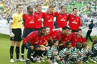 Fotball<br /> UEFA Cup-finalen 2004/2005<br /> Sporting Lisboa v CSKA Moskva 1-3<br /> 18.05.2005<br /> Foto: Dppi/Digitalsport<br /> NORWAY ONLY<br /> <br /> CSKA TEAM (BACK ROW LEFT TO RIGHT: IGOR AKINFEEV / CHIDI ODIAH / VASILIY BEREZUTSKIY / ALEXEY BEREZUTSKIY / ELVIR RAHIMIC / SERGEY IGNASHEVICH. FRONT ROW: VAGNER LOVE / IVICA OLIC / DANIEL CARVALHO / EVGENY ALDONIN / YURI ZHIRKOV )