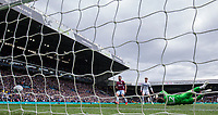 Leeds United's Mateusz Klich (not pictured) beats Aston Villa's Jed Steer<br /> <br /> Photographer Alex Dodd/CameraSport<br /> <br /> The EFL Sky Bet Championship - Leeds United v Aston Villa - Sunday 28th April 2019 - Elland Road - Leeds<br /> <br /> World Copyright © 2019 CameraSport. All rights reserved. 43 Linden Ave. Countesthorpe. Leicester. England. LE8 5PG - Tel: +44 (0) 116 277 4147 - admin@camerasport.com - www.camerasport.com