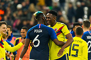 Paul Pogba (fra) and Yerry Mina (col) during the International Friendly Game football match between France and Colombia on march 23, 2018 at Stade de France in Saint-Denis, France - Photo Pierre Charlier / ProSportsImages / DPPI
