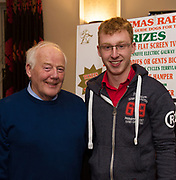 Frank Downes, IGDA  and John Connor Moycullen at the Irish Guide Dogs for the Blinds Annual Christmas Raffle at the Menlo Park Hotel . Photo:Andrew Downes
