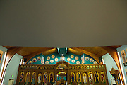 A look inside the St. James Orthodox Church during the Middle Eastern & Greek Food Fest at St. James Orthodox Church in Milpitas, California, on September 14, 2014. (Stan Olszewski/SOSKIphoto)